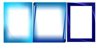 Schede blu del biglietto di S. Valentino Fotografia Stock