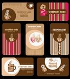 Schede del caffè Immagini Stock