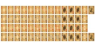 Schede della mazza dell'annata Fotografie Stock Libere da Diritti