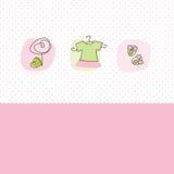 Schede di annuncio di arrivo della neonata Fotografia Stock