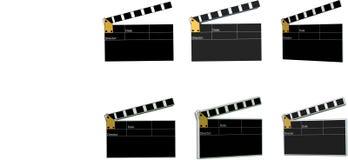Schede di applauso di film nelle 2d e in 3d Fotografia Stock Libera da Diritti