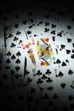 Schede di gioco Immagine Stock
