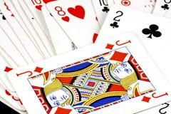Schede di gioco Fotografie Stock