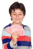 Schede di gioco adorabili del ragazzo Fotografia Stock Libera da Diritti