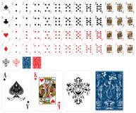 Schede di gioco classiche Fotografie Stock