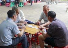 Schede di gioco degli anziani Immagine Stock Libera da Diritti