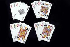 Schede di gioco della mazza Fotografie Stock