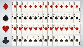 Schede di gioco della mazza, piattaforma piena illustrazione vettoriale