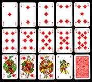 Schede di gioco - diamante Fotografia Stock