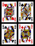 Schede di gioco - regine Immagini Stock
