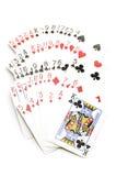 Schede di gioco su bianco Immagini Stock Libere da Diritti