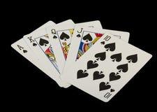 Schede di gioco sul nero Immagine Stock Libera da Diritti