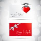 Schede di giorno del biglietto di S. Valentino Fotografia Stock Libera da Diritti