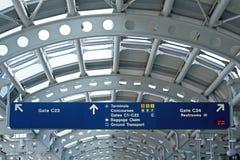 Schede di informazioni dell'aeroporto Fotografia Stock Libera da Diritti