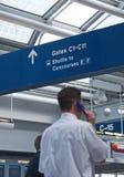 Schede di informazioni dell'aeroporto Immagine Stock Libera da Diritti