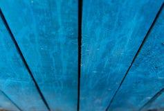 Schede di legno blu fotografia stock