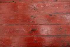 Schede di legno sporche rosse Fotografia Stock