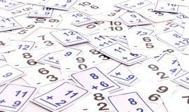 Schede di per la matematica Immagini Stock Libere da Diritti