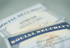 Schede di previdenza sociale Immagine Stock