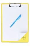 Schede di scrittura Immagini Stock