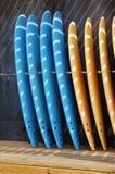 Schede di spuma diritte Fotografia Stock