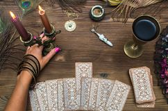 Schede di Tarot Immagini Stock