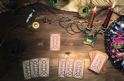 Schede di Tarot Fotografia Stock Libera da Diritti