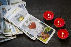 Schede di Tarot fotografia stock