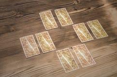 Schede di Tarot Indovino fotografia stock