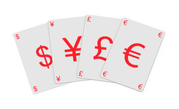 Schede di valuta Fotografia Stock Libera da Diritti