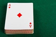 Schede e pacchetto delle schede di gioco. Fotografia Stock
