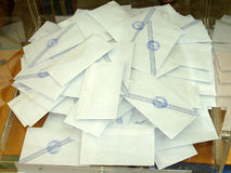 Schede elettorali Fotografia Stock Libera da Diritti