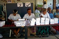 Schede elettorali Immagini Stock