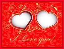 Schede felici di giorno di biglietti di S. Valentino Fotografie Stock Libere da Diritti
