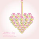 Schede felici di giorno e di sarchiatura di biglietti di S. Valentino Fotografie Stock Libere da Diritti