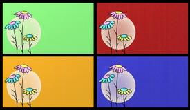 Schede floreali Fotografia Stock