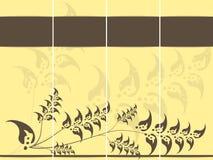 Schede gialle dell'invito Fotografia Stock