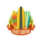 Schede praticanti il surfing Immagini Stock