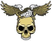 Schedel en adelaar stock illustratie
