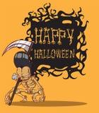 Schedel Halloween. orang-oetanachtergrond Stock Fotografie
