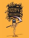 Schedel Halloween. orang-oetanachtergrond Stock Illustratie