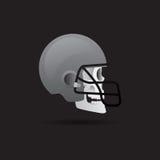 Schedel met helm Vector Illustratie