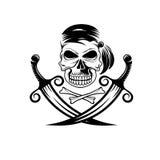 schedel met zwaarden en beenderen vector illustratie