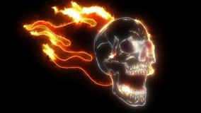 Schedel op Brand met de animatie van de Vlammenlaser royalty-vrije illustratie