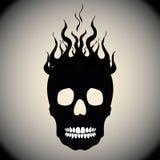 Schedel op Brand met Vlammen Royalty-vrije Stock Afbeelding