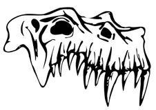 Schedel van Demon Royalty-vrije Stock Afbeelding