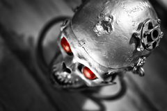 Schedel van een menselijke grootterobot Stock Foto