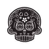 Schedel van Mexicaanse dode dag vector illustratie