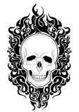 schedel zwarte brand Royalty-vrije Stock Foto's
