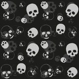 Schedel - zwarte en grijze achtergrond Royalty-vrije Stock Foto